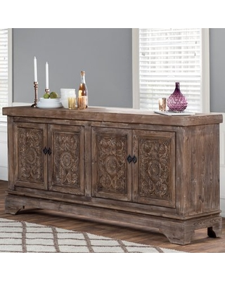 "Find Savings on Steinhatchee 82"" Wide Pine Wood Sideboard Bungalow ."