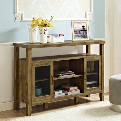 Millwood Pines Stennis Buffet Table Color: Barnwood | Wooden .