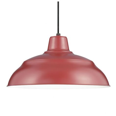 Stetson 1 - Light Single Dome Pendant | Red pendant light, Pendant .