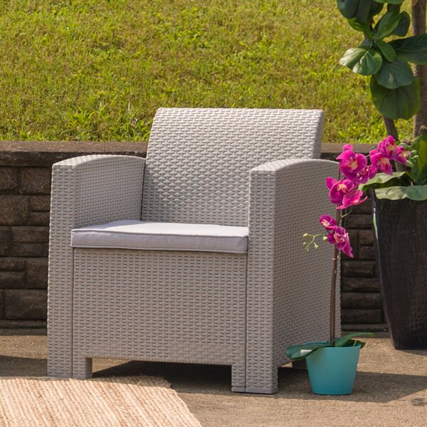 Breakwater Bay Stockwell Patio Chair with Cushion & Reviews | Wayfa