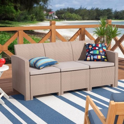 Deals Finders | WAYFAIR: Breakwater Bay Stockwell Patio Sofa with .