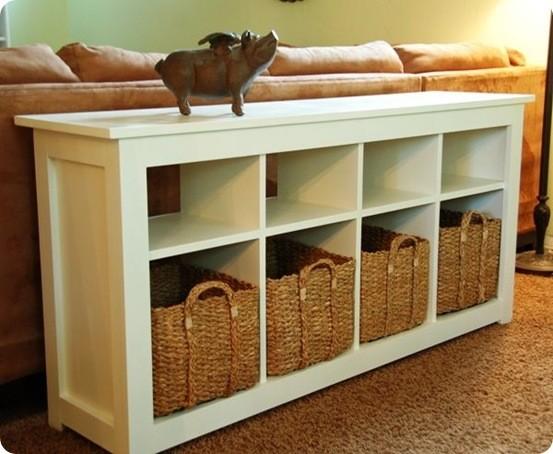 Best of Knock Off Decor: White Storage Sofa Table - KnockOffDecor.c