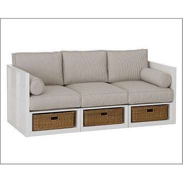 great use of couch | Sofa storage, Couch storage, Built in cou