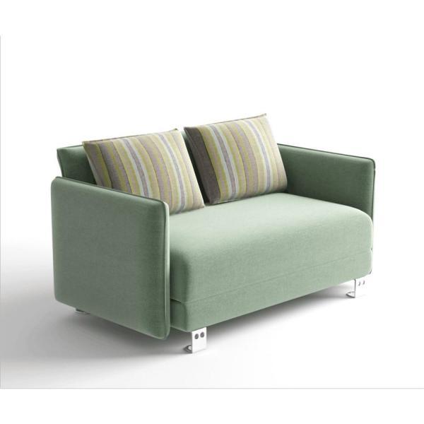 Boyel Living Stratford 33 in. Green Velvet 2-Seater Convertible .