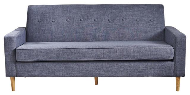 GDF Studio Stratford Mid Century Modern Fabric 3-Seat Sofa .