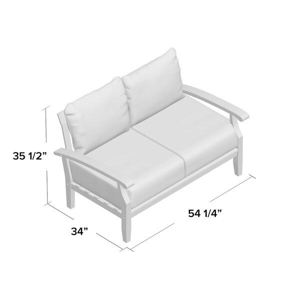 Summerton Teak Loveseat with Cushions & Reviews | Birch La