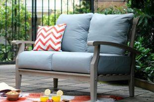 Birch Lane™ Heritage Summerton Teak Loveseat with Cushions .