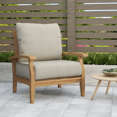Birch Lane™ Heritage Summerton Teak Patio Chair with Cushions .