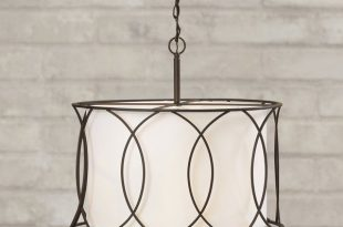 Tadwick 3-Light Shaded Drum Chandelier (With images) | Kitchen .