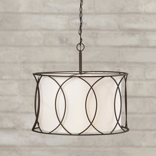 Tadwick 3 Light Single Drum Chandeliers