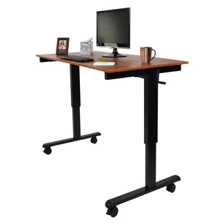 Sit and Stand Up Adjustable Height Crank De