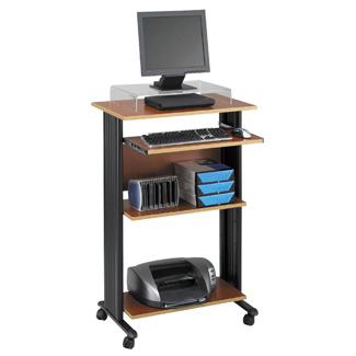 Tall Stand Up Computer Cart - Stand Computer De