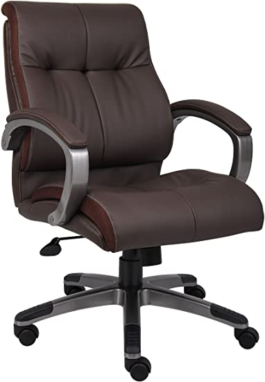 Amazon.com: Boss Office Products Double Plush Mid Back Executive .