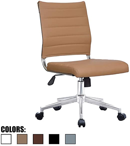 Tan Brown Mid Back Executive Office Chairs