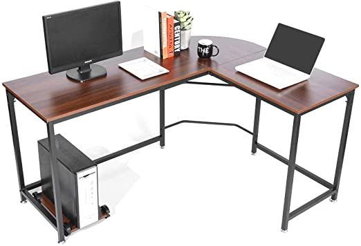 Amazon.com: SimLife Reversible L-Shaped Desk Modern Corner .
