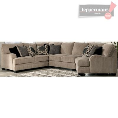 Katisha 4 PC Sectional - Tepperman's | Sectional, Sectional couch .