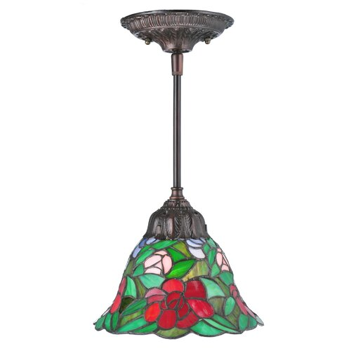 Meyda Tiffany Begonia 1-Light Single Bell Pendant | Wayfa