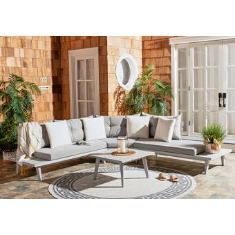 Tess Corner Living Patio Sectionals With Cushions