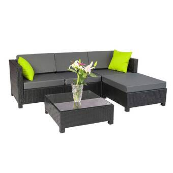 Rosecliff Heights Tess Corner Living Patio Sectional with Cushions .