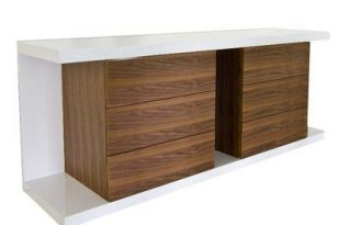 Latitude Run Thite Sideboard Color: Walnut/White in 2020 .
