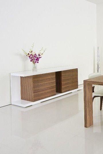 Thite Pullout 6 Drawer White/Walnut Storage Unit | HauteLook | Mod .