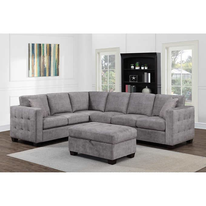 Kylie Fabric Sectional with Ottom