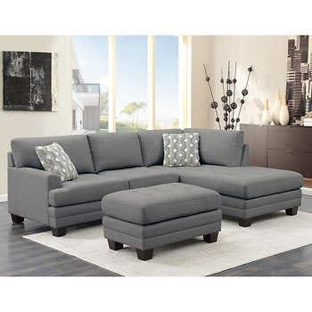 Sectionals Sofas Costco in 2020 | Sectional sofa, Ottoman in .