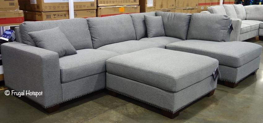 Costco Sale - Thomasville Artesia Fabric Sectional w/Ottoman .