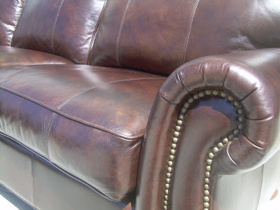 UHURU FURNITURE & COLLECTIBLES: SOLD - Thomasville Leather .