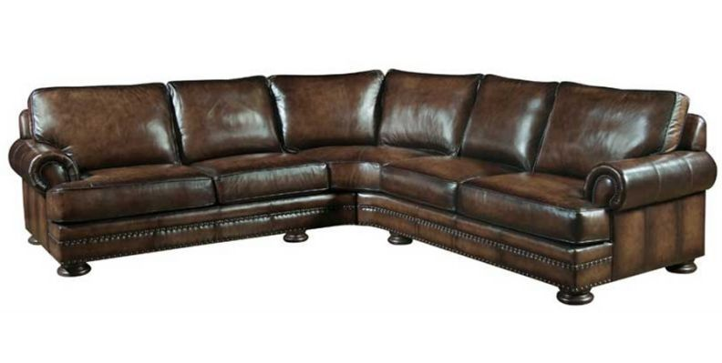 Luxury thomasville sectional sofas | Leather sectional, Leather .