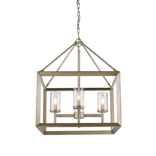 Thorne 4 - Light Lantern Rectangle Chandelier & Reviews | AllMode