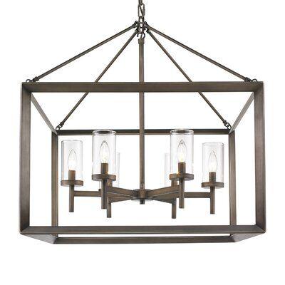 Thorne 6 Light Lantern Square Rectangle Pendants