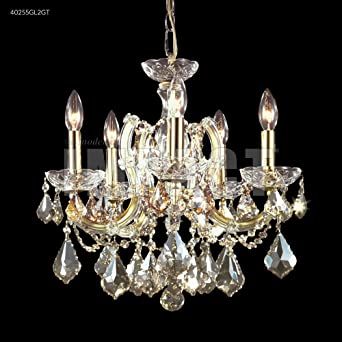 James Moder Impact Maria Teresa 5-Light Silver Chandelier .