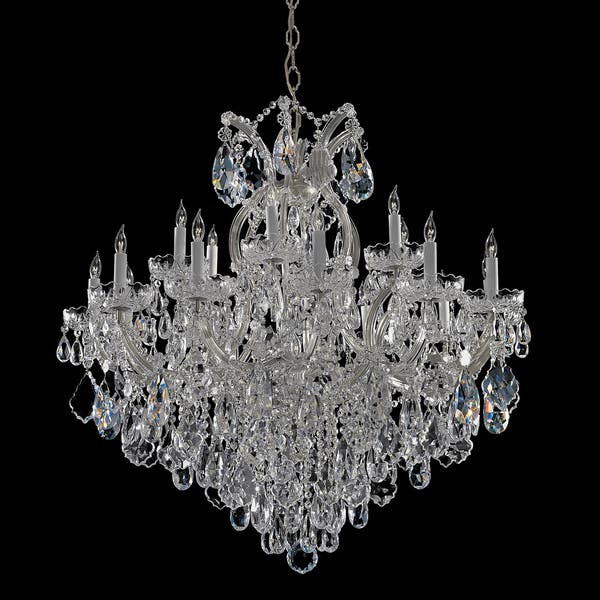 Shop Maria Theresa 18+1-light Chrome/ Italian Crystal Chandelier .