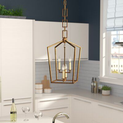 Everly Quinn Tiana 4 - Light Lantern Geometric Pendant Finish .