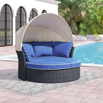 Brayden Studio® Seager Patio Daybed with Cushions | Wayfa