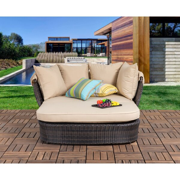 Bay Isle Home Tolbert Patio Daybed with Cushions & Reviews | Wayfa