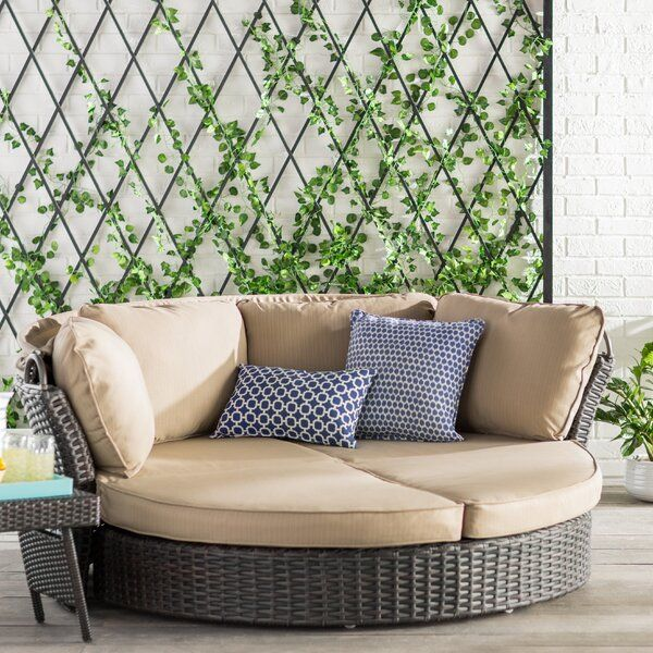 Tiana Patio Daybed with Cushions | Outdoor daybed, Outdoor sofa .