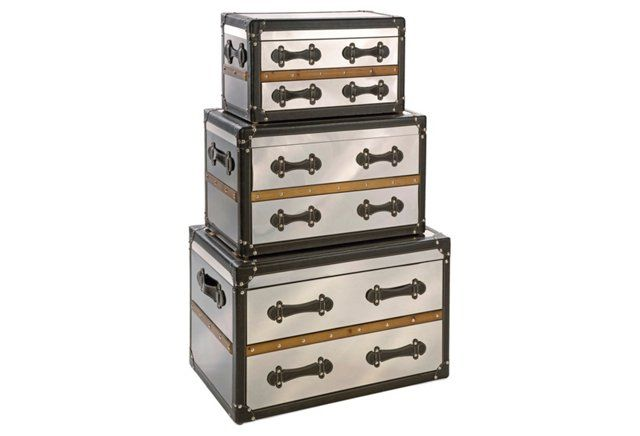 S/3 Tilman Trunks | Furniture, Decorative trunks, Storage trun