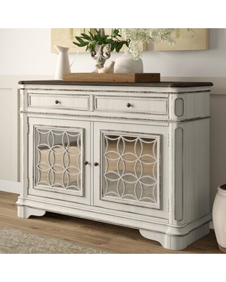 "Amazing Savings on Tiphaine 56"" Wide 2 Drawer Sideboard Lark Man"