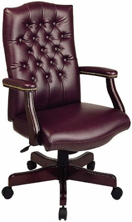 Work Smart Traditional Executive Chair with Padded Arms [TEX232 .