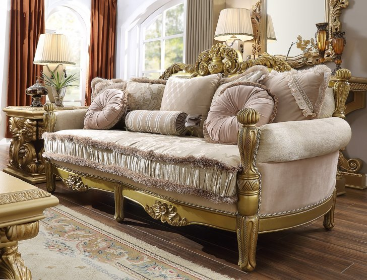 Traditional Sofa in Yellow Fabric Traditional Style Homey Design .