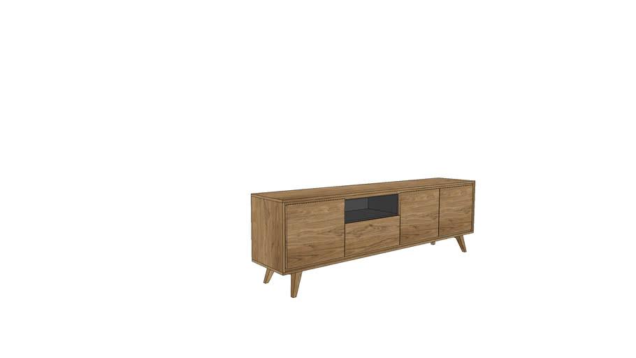 TR350w, Tribeca Sideboard 248cm - wooden legs | 3D Warehou