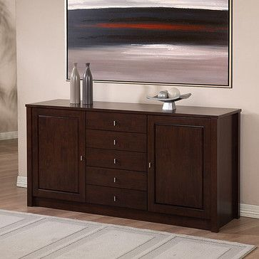 Tribeca 2-door 5-drawer Buffet - contemporary - buffets and .