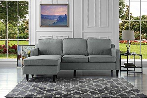 Mid-Century Modern Linen Fabric Sectiona- Buy Online in Trinidad .