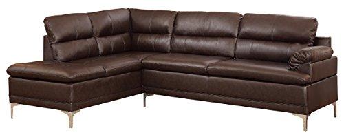 """Homelegance Soyer 104"""" Sectional Sofa, Dark Brown - Buy Online in ."""