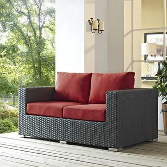 Brayden Studio® Tripp Loveseat with Sunbrella Cushions & Reviews .