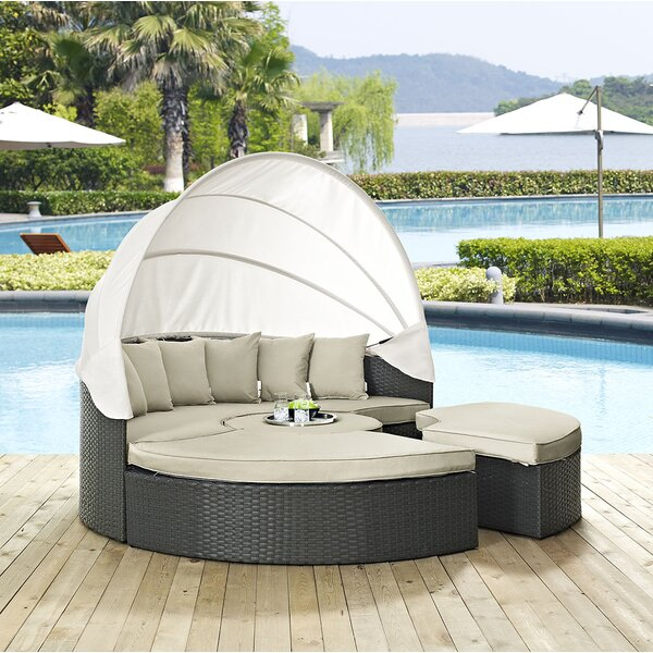 Brayden Studio® Tripp Patio Daybed with Sunbrella Cushions .