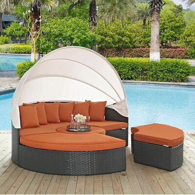 Brayden Studio® Brayden Studio® Tripp Patio Daybed with Sunbrella .