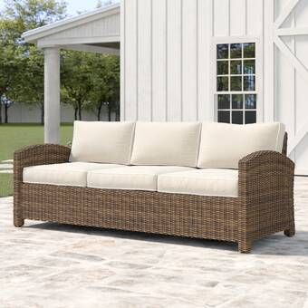 Tripp Patio Sofa with Sunbrella Cushions in 2020 | Patio sofa .